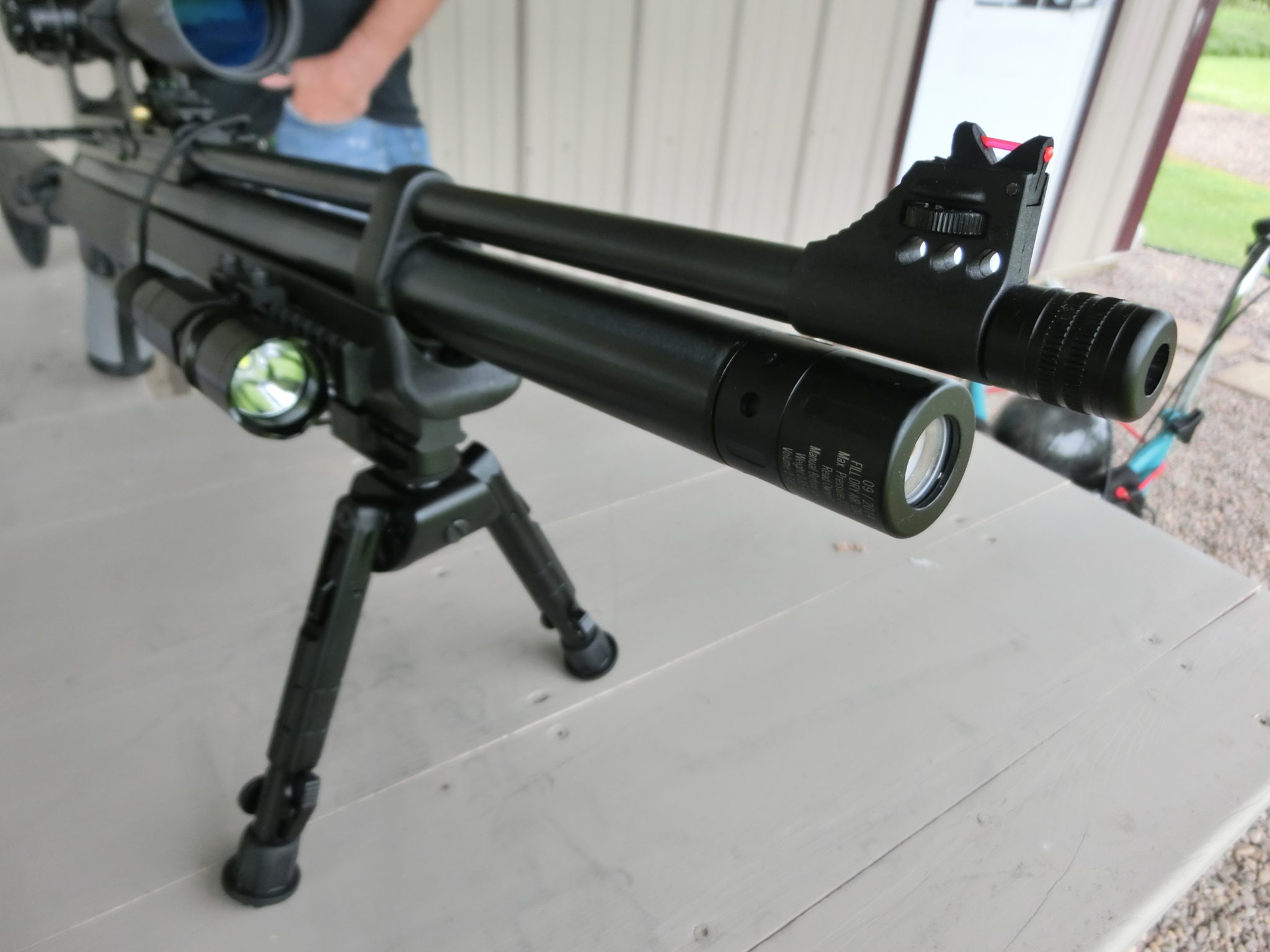 Hatsan AT44-10 TACT with UTG Recon Bipod and TO Flashlight