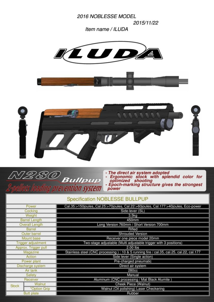 The JKHan iLuda PCP Bullpup | Airguns: Air Rifles and Pistols